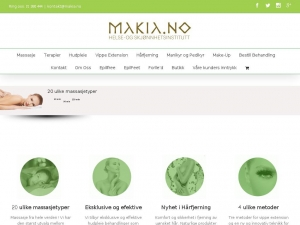 Makia - professional and checked beauty gabinet with tradition in Oslo.